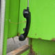Kapotte hoorn telefooncel